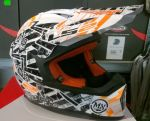 KASK LS2 MX437 FAST MIN GLITCH WHITE/BLACK ORANGE